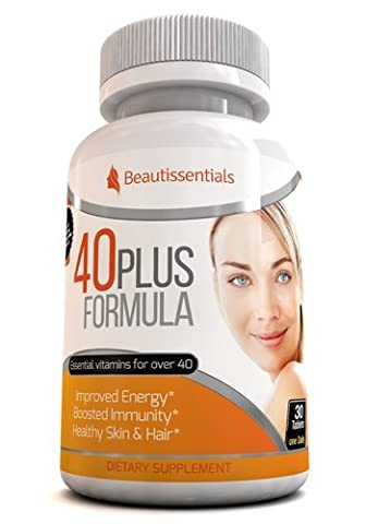 40 Plus Formula - Essential Vitamins. Vitamins A, B1, B3, B6, B12, C, D3, E, Folic Acid, Iodine, Iron, Magnesium and