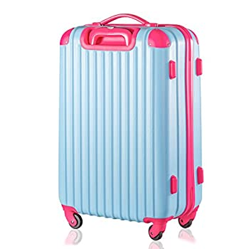 "Travelhouse Executive Business Bag Luggage Travel Flight Case Suitcase New (28"", Blue & Rose) 8"