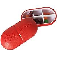 rosenice Pillendose mit 6Fächern Notebook-Kunststoff in rot preisvergleich bei billige-tabletten.eu