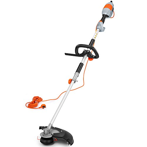 VonHaus 2 In 1 Grass Trimmer & Brush Cutter 1000W - Long 10m Cable & 380mm Max. Cutting Width