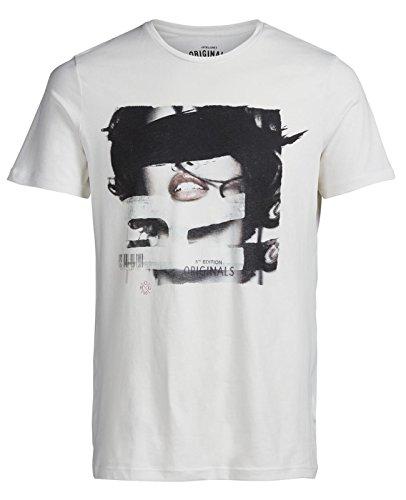 Jack & Jones Herren Oberteile / T-Shirt jorDusk Cremeweiß (Cloud Dancer Fit:SLIM FIT)