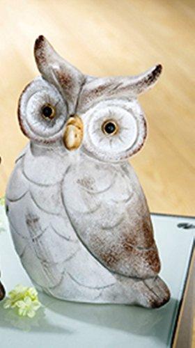 Deko Keramik Eule Hubertus 14cm