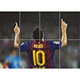LIONEL MESSI GOAL CELEBRATION FC BARCELONA GIANT NEW ART PRINT POSTER OZ302