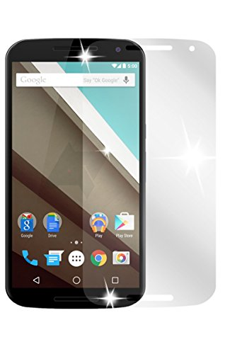 dipos I 2X Schutzfolie klar passend für Motorola Google Nexus 6 Folie Bildschirmschutzfolie