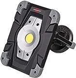 Brennenstuhl Projecteur LED Rechargeable 20W avec un Set de Fixation Magnétique (2000 Lumen, utilisation en interieur et Extérieur IP54, 2 Modes Eclairage, Autonomie Max 6H), Noir