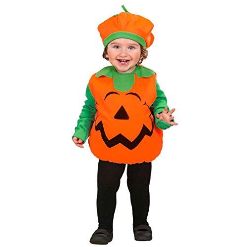 Costume da zucca per bambini 90- Halloween copricapo berretto dolcetto scherzetto bambino verdura carnevale - 90-104 cm