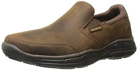 Skechers Glides-Calculous, Chaussures de Running Homme, Marron (Dark Brown), 42 EU