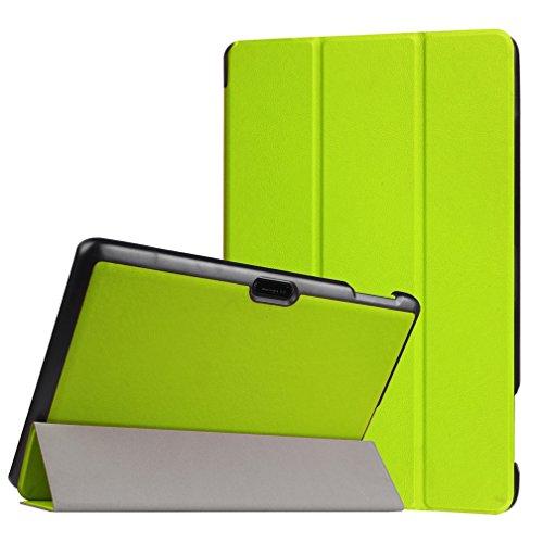 Lindo búho para Tablet de 10, diseño Universal funda de cuero tipo libro para Magic funda de piel Para 10'10Inch Android Tablet (Dragon Touch X10Tablet de 10.6pulgadas/Lenovo Tab 2A10–70F Tablet/10.1Fusion5104GPS Tablet/NeoCore B110.1Pulgadas Tablet/10.1' pulgadas Quad Core Tablet/Lenovo Tab 2A10Tablet de 10pulgadas) funda protectora funda (búho siempre Love you) &Green