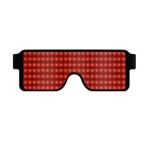 EisEyen 8 Muster Leuchten Brille LED Luminous Glasses für Masquerade Party, Nacht Pub,Bar Klub Rave,Kostüm