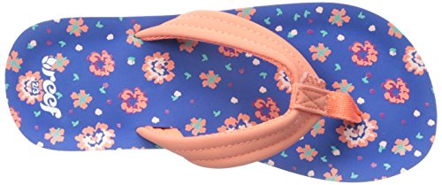 Reef LITTLE AHI, Sandales Bride cheville fille Multicolore (Blue Floral)