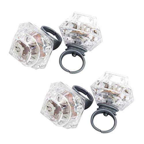 STOBOK Blinkende Led leuchten Ring Spielzeug Diamant Gelee Holperige Ringe für Geburtstag Brautdusche Gatsby Party Favors (12 ()
