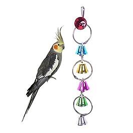 UEETEK Pappagallo giocattolo uccelli Masticare giocattolo uccelli altalena Scala