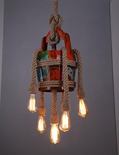 Illuminazione jiaily Paese americano la canapa negozio di abbigliamento caffè ristorante Pavilion lampadario lampadario modello (Modello Di Olio Di Vetro Lampada)