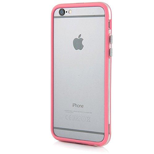 Bumper Case Cover für Apple iPhone 6 / 6s Plus (5,5 Zoll) - Schutzhülle für den Rand aus PC mit Dämpfern aus Silikon in hellblau macht den Rahmen besonders leicht und dünn - iPhone6/6s Plus Hülle Tasc rosa