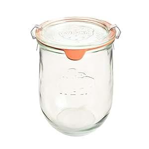 12 Weck Gläser 220 ml Tulpengläser Einmachgläser Sturzgläser Weckgläser / inkl Einkochringe Klammern Glasdeckel