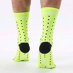 Lorenlli Ajuste DH04 Calcetines de Ciclismo al Aire Libre de Moda cómodos Hombres Mujeres Profesional Transpirable Calcetines Deportivos Calcetines de Baloncesto
