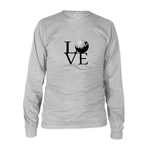 Todesstern Love - Herren Langarm T-Shirt, Größe: XXL, Farbe: weiß