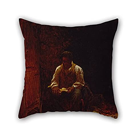 Beautifulseason Throw Pillow Covers 18 X 18 Inches / 45 By 45 Cm(two Sides) Nice Choice For Wedding,drawing Room,family,girls,club,father Oil Painting Eastman Johnson - The Lord Is My