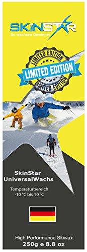 SKINSTAR Universal Wachs LIMITED EDITION Ski und Langlauf Wachs Ski Wax 250g