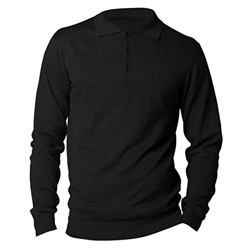 Kustom Kit Arundel Herren Polo-Shirt, Langarm Marineblau