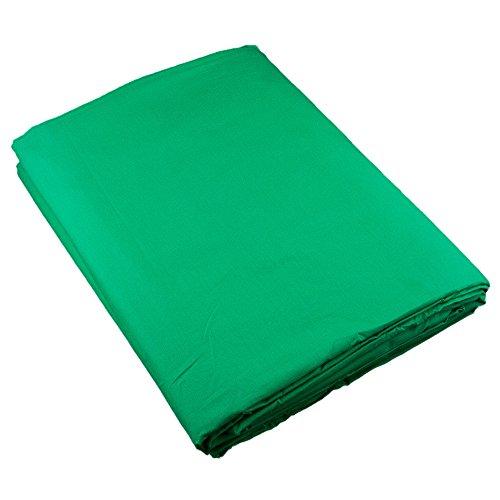 PhotoSEL BK13CG Tela de Fondo para Fotografía de Muselina y Pantalla Verde Croma de 3m × 6m