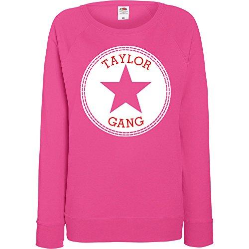 TRVPPY - Sweat Pull, modèle Taylor Gang Worldwide - Femme, différentes tailles et couleurs Fuchsie