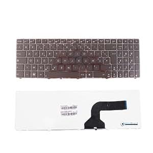 Clavier AZERTY Français Noir pour ordinateur portable ASUS K53S Series