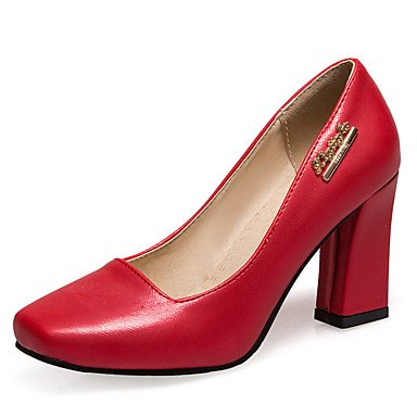 WSX&PLM Da donna-Tacchi-Formale Casual Serata e festa-Others-Quadrato-Finta pelle-Rosa Rosso Bianco Beige red