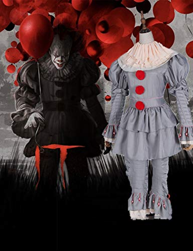 Assistenten Männliche Kostüm - Gruselige Scary Halloween Cosplay Kostüm Maske Adult Party Scary Clown Teufel Zombie Horror Dekoration Requisiten,XXL