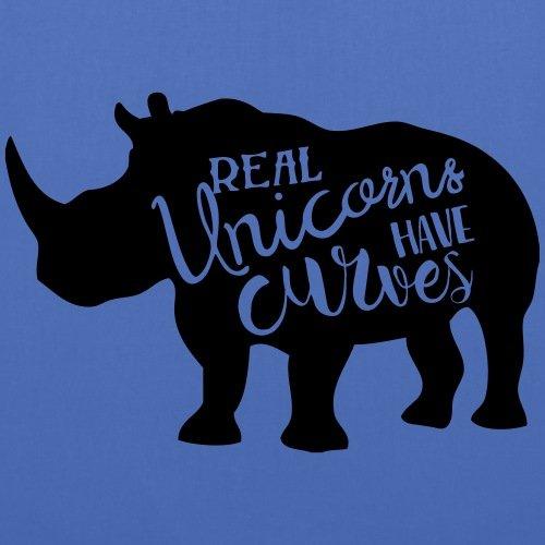 Spreadshirt Real Unicorns Have Curves Stoffbeutel Hellblau