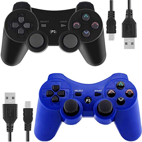 Gollec Wireless Controller Remote Gamepad für PS3 Playstation 3 Double Shock mit USB-Ladekabel (Playstation 3 Controller)