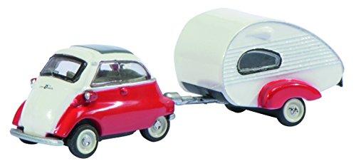 Schuco - Modellino automobilina Isetta con roulotte ES-Piccolo