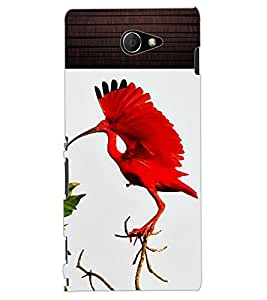 ColourCraft Beautiful Bird Design Back Case Cover for SONY XPERIA M2 DUAL D2302