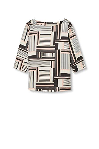 ESPRIT Collection Damen Bluse Mehrfarbig (Off White 3 112)