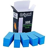 Ying 3D Origami - Papel de origami preseñalado con los puntos en los que se dobla (A4, 90 g) -, color Azzurro 55