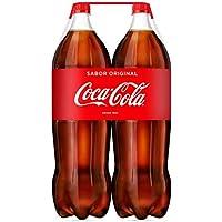 Coca-Cola - Regular, Refresco con gas de cola, 2 l (Pack de 2), Botella de plástico