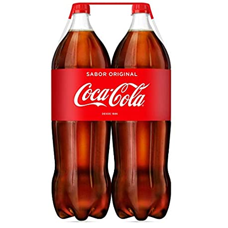 Coca Cola Regular Refresco con gas de cola 2 l Pack de 2 Botella de pl stico