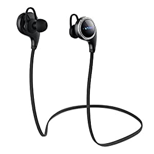 Vtin Swan Bluetooth 4.1 Wireless Sports Headphones Sweatproof Running Gym Exercise Stereo Earbuds Headsets Built-in Mic/APT-X for iPhone Samsung and Android Phones-Retail Packaging -QY8 Pro Black