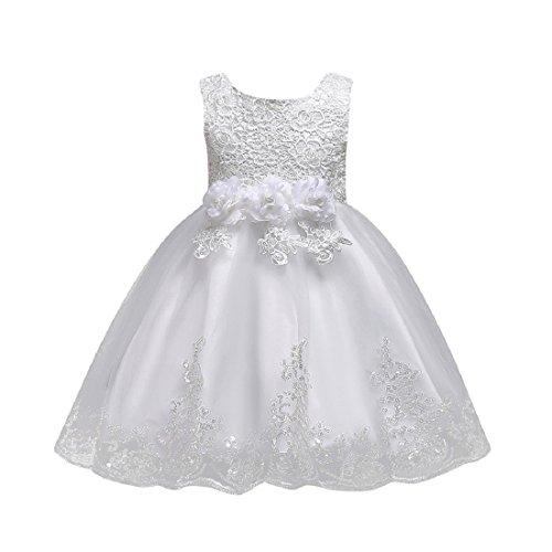 Vestido Niñas De Tul Flores Princesa Boda Vestido Sin Mangas Para Bebé Niña Lonshell Vestido De Elegante Boda Fiesta Vestidos Vestidos De Flores
