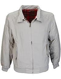 Warrior Harrington Jacket Coat Mod Tartan Check Stone Small