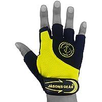 Preisvergleich für jasons Gear Essential Handschuhe zum Gewichtheben mit, atmungsaktiv Cool Max, leicht Gewicht, Silicon Grip Palm, Air Flow Tech die Handfläche Cool. Geeignet für Radfahren, Gewichtheben, schwere Arbeit Outs, Cross Fit, WOD, Fitnessraum und Fitness (Unisex)