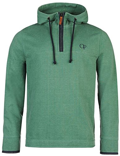 mens-quarter-zip-pique-hooded-sweater-top-xxx-large-green