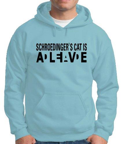 Touchlines Herren Kapuzen Pullover Schroedingers Cat Wanted Sweatshirt, Skyblue, XL, B2107 Preisvergleich