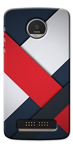 Moto Z Play Case, Elove Motorola Moto Z Play Designer Printed Hard Case Cover - [Hybrid] [Slim-fit] [Lightweight] [Defender] Back Cover for Moto Z Play