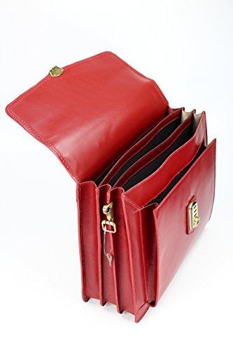 """BELLI """"Design Bag D"""" XXL ital. Leder Handtasche Business Bag Aktentasche Lehrertasche - Farbauswahl - 40x30x12 cm (B x H x T) Bordeaux"""
