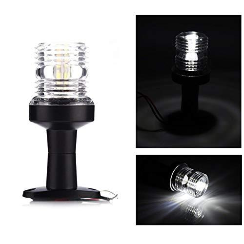 Pandiki 360-Grad-12V 3W LED 5inch Boots-Anker-Stern Impressum Navigation Sockel weiße LED-Licht