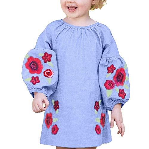 Fuxitoggo Toddler Kids Baby Girl Elegante Flor Rosa Impreso Vestido de Manga...
