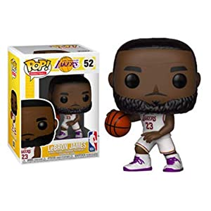 Funko Pop Lebron James Los Ángeles Lakers camiseta blanca (NBA 52) Funko Pop NBA