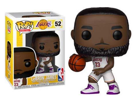 Funko Pop Lebron James Los Ángeles Lakers camiseta blanca (NBA 52) Funko Pop NBA