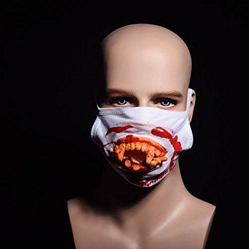 Serie Feinsteinzeug (Halloween Scary Horror Mund Maske Gesicht Phantasie Zähne Zombies Bloody Horrific Gift)